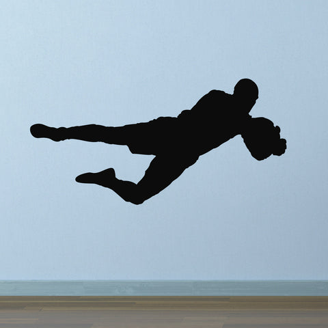 Football Goalkeeper Wall Sticker - Black