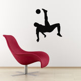 Football Wall Sticker - Overhead Kick - Black