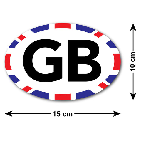 GB Car Sticker with Union Jack