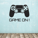 Game On Wall Sticker - Black
