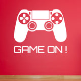Game On Wall Sticker - White