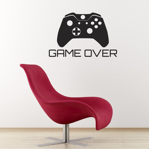 Game Over Wall Sticker - Black
