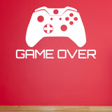 Game Over Wall Sticker - White