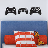 Gamer Wall Stickers - Pack of 3 Game Console Controllers - Black