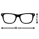 Geek Glasses Wall Sticker - Size Guide