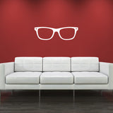 Geek Glasses Wall Sticker - White