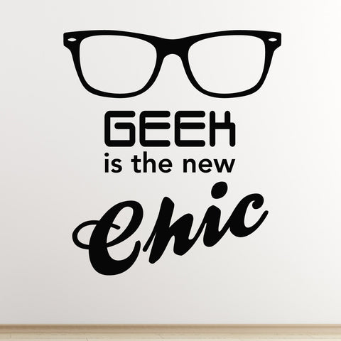Geek Is The New Chic Wall Sticker - Black