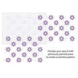 CraftStar 5 cm Flower Pattern Wall Stencil Layout