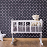 CraftStar 5 cm Flower Pattern Wall Stencil on nursery wall