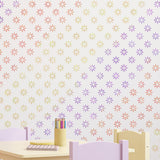 CraftStar 5 cm Flower Pattern Wall Stencil in playroom