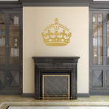 Keep Calm Crown Wall Sticker - Gold