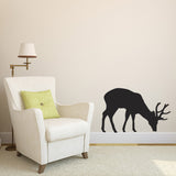Grazing Stag Wall Sticker - Black