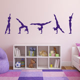 Gymnastics Walk-Over Wall Sticker - Purple