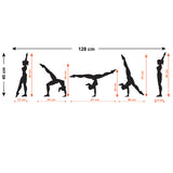 Gymnastics Walk-Over Wall Sticker - Size Guide