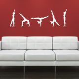 Gymnastics Walk-Over Wall Sticker - White