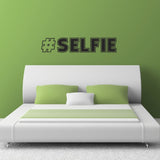 Hash Tag Selfie Wall Sticker - Black