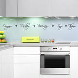Herb Names Kitchen Wall Sticker - With Hearts