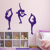 Ice Skater Wall Sticker Pack - Purple