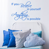 ZygoMax If You Believe Wall Sticker in Light Blue