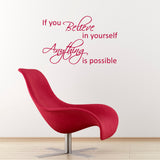 ZygoMax If You Believe Wall Sticker in Red