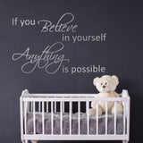 ZygoMax If You Believe Wall Sticker in Silver