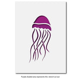 Craftstar Jellyfish Stencils Layout