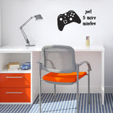 Just 5 More Minutes Wall Sticker - Black