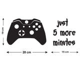 Just 5 More Minutes Wall Sticker - Size Guide