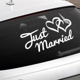 Just Married Car Sign - Self-Adhesive Sticker