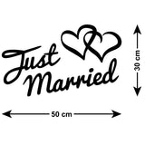 Just Married Car Sign - Size Guide