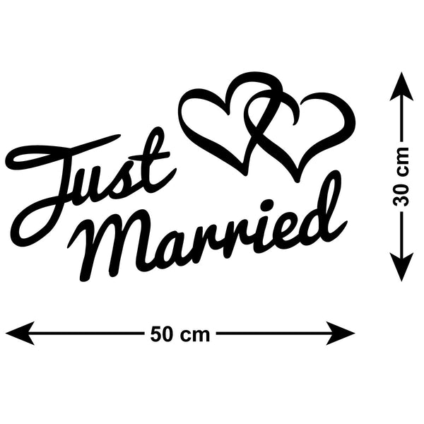 Just Married Car Sign Self Adhesive Sticker Zygomax