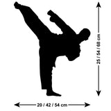 Standing Kick - Karate Wall Sticker - Martial Arts Decal
