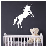 Prancing Unicorn Wall Sticker in white