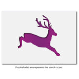 CraftStar Leaping Stag Stencil Layout