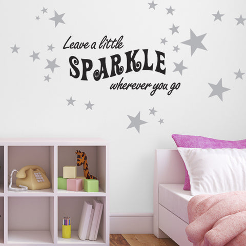 Leave A Little Sparkle Wall Sticker - Black