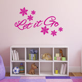 Let It Go Wall Sticker - Dark Pink