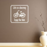 Life Is A Journey - Enjoy The Ride Wall Sticker - White