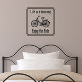 Life Is A Journey - Enjoy The Ride Wall Sticker - Black