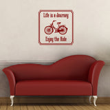 Life Is A Journey - Enjoy The Ride Wall Sticker - Red