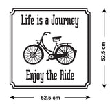 Life Is A Journey - Enjoy The Ride Wall Sticker - Size Guide