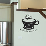 Life Is Like A Cup Of Tea Wall Sticker - Black