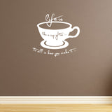 Life Is Like A Cup Of Tea Wall Sticker - White