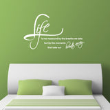 Life Is Not Measured By The Breaths We Take Wall Sticker - White