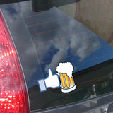Like Beer Car Sticker on Window