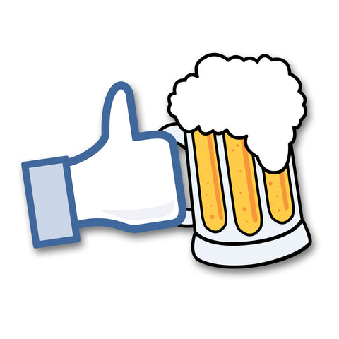 Like Beer Car Sticker