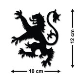 Scottish Lion Rampant Car Sticker - Size Guide
