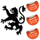 Lion Rampant Wall Sticker - Size Guide