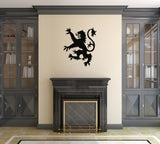 Lion Rampant Wall Sticker - Black