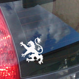 Scottish Lion Rampant Car Sticker - White