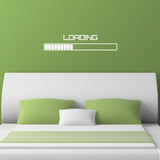 Loading Symbol Wall Sticker - White